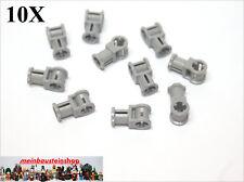 10X Lego® 32039 Technic Pin- Achs- Verbinder 2 Fach neues Hellgrau Gray NEU