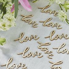 Wooden LOVE Table Confetti Favours Vintage Rustic Boho Wedding Themed Party