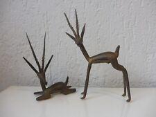 2 schöne,alte Bronzen__Bronzefiguren__Afrika__Antilopen___!