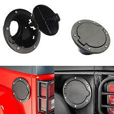 Fuel Filler Gas Cap Door Tank Cover For 2007-2016 Jeep Wrangler Wrangler Black