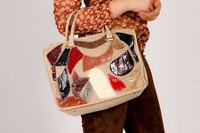 Vintage Palizzio patchwork  handbag lizard snake python skin bag