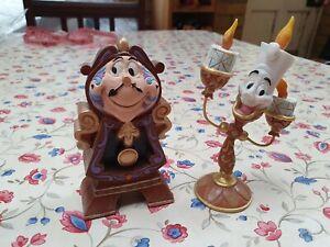 Jim Shore Disney Beauty & the Beast Keeping Watch Cogsworth Figurine + Lumiere