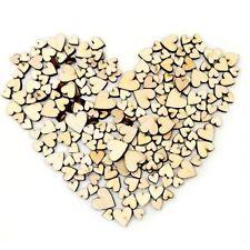 Wooden MINI MIXED HEART Birch Embellishments wedding craft card making scrapbook