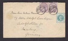 Oxford SUMMERTOWN 1901 cover 3 stamps 2 single ring cancels
