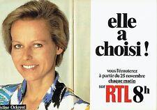 Publicité Advertising 057  1985  radio RTL ( 2pages) Christine Ockrent