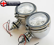 "2X Universal 4"" Motorcycle Motorbike LED Front Spot Light Headlight Head Lamp"