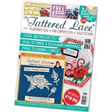 TATTERED LACE MAGAZINE ISSUE 32 WITH FREE CHARISMA SWEET POPPY DIE SET & CD ROM