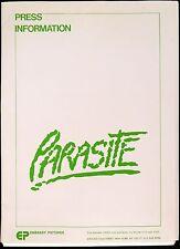 PARASITE 1982 Robert Glaudini, Demi Moore, Luca Bercovici  PRESSKIT