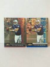 2008 Finest Peyton Manning Basic Card#3 And Blue Refractor Card# Mint