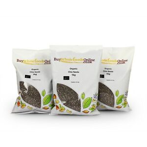 Organic Chia Seeds 3kg   Buy Whole Foods Online   Free UK Mainland P&P