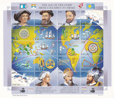 1992 Palau #302 Age of Discover from Columbus to Drake Souvenir Sheet PO Fresh