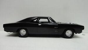 ERTL 1969 DODGE CHARGER Black '69 w/RR Treaded Tires SKULL Death Proof 1:24