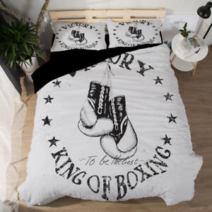 King of Boxing Sports Duvet/Quilt/Doona cover Pillowcase bedding set all size HD