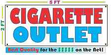 CIGARETTE OUTLET Full Color Banner Sign NEW Larger Size Best Price on the Net!