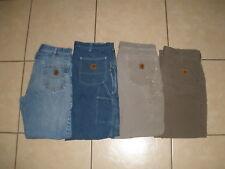 LOT of 4 CARHARTT B17 B159 B151 Denim Duck Canvas work pants jeans mens 36 x 32