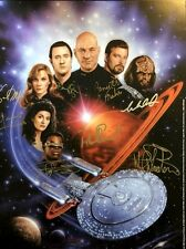 Star Trek the Next Generation  - Total Cast Signed Mini Print with Wil Wheaton