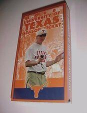 Texas Longhorns vs Rice Owls September 26, 1998 VHS Season Ticket NCAA