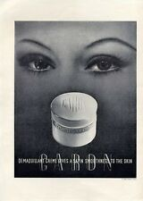 1938 Caron PRINT AD Demaquillant Creme Jar Vintage Great boudoir decor frameable