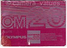 Olympus OM20 Camera Manual More Instruction Books Listd