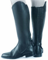Shires High Quality Leather Gaiters / Chaps Black/Brown