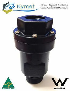 """Dual Check Valve (Series) 3/4"""" BSP Inlet Female x 1"""" BSP Outlet  Male"""
