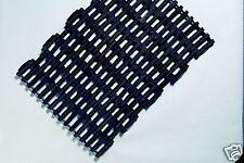 Pack of 6 Door Mats Traditional Rubber Link Scraper Doormat Black 58cm x 41cm