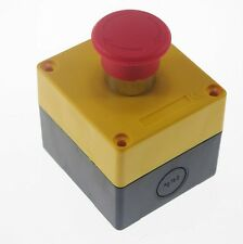 22mm Nc Emergency Stop Push Button Switch Station Control Plastic Box