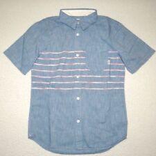 New Vans Boys Bramble Button Up Casual Shirt Medium 10-12