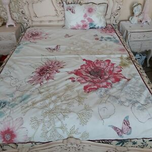 Marks and Spencer single butterflies and floral duvet set..