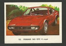 Ferrari 365 GTC 4 Coupe Vintage Car Collector 1972 Trading Card from Spain