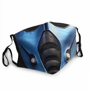Subzero Scorpion Mortal Kombat 11 Washable reusable Half Face Mask Mouth Filters