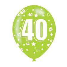 6 Paquets Âge 40 Ans Assortiment de Couleurs Ballons en Latex Anniversaire