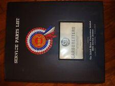 (9800) BMC SU Carburetters Service Parts List Manual