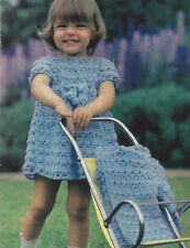 BABY GIRLS DRESS & JACKET CROCHET PATTERN  21 TO 24 INCH (1542)