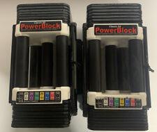 Powerblock Classic 50 Pound Adjustable Dumbbell Pair. 10-50LBS 2 Dumbbells!