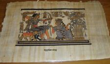 Egyptian PAPYRUS -King Tut Hunting Ducks -Approx. 29cm  x 20cm   #113