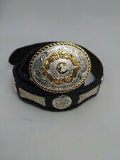 Montana Silversmith C on a Tony Lama belt size 32