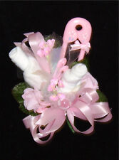 Baby Shower Corsage With  Pink Big Pin Rattle  Handmade