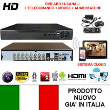 DVR 16 CANALI AHD IP CON CLOUD VIDEOSORVEGLIANZA IBRIDO VIDEOREGISTRATORE HD