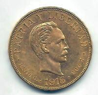 Paises del Caribe 10 Pesos 1915 oro  @ Muy Bella @