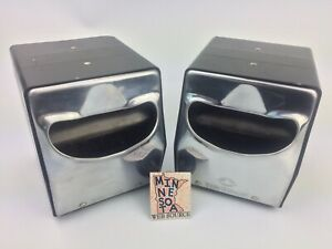 2 Vtg TidyNap Chrome Napkin Dispenser Green Bay USA Tidy Nap Holder