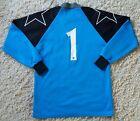 Prostar Interceptor goalkeeper shirt royal blue & black padded sleeve 34/36