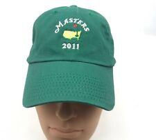 MASTERS 2011 Green GOLF Hat Cap American Needle 100% Cotton Never Worn
