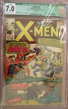 X-men #9 CGC 7.0 FN/VF 1ST Avengers 1st Lucifer 2036107017 OW to White pages