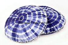 "Mandala Tie Dye Printed 32"" Round Floor Pillow Cushion Pouf Large Seating 2 PCs"