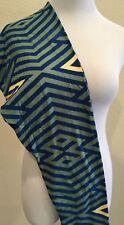 LuLaRoe Tall & Curvy TC Dusty Green w/ Royal Blue & Yellow Stripes Diamond Shape