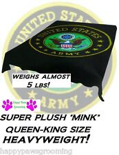 GENUINE US ARMY SEAL QUEEN SIZE BLANKET United States HEAVYWEIGHT BED MINK PLUSH