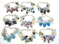 WHOLESALE LOT OF 10 PIECES OF NEW MURANO GLASS FINE BRACELETS