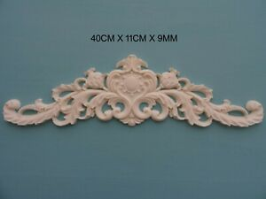 Decorative applique centre scroll resin furniture moulding onlay decal NR16