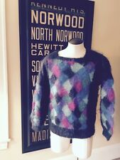Vintage NOS 90s MOHAIR Abstract Knit Jumper Tunic Sweater NEW Medium